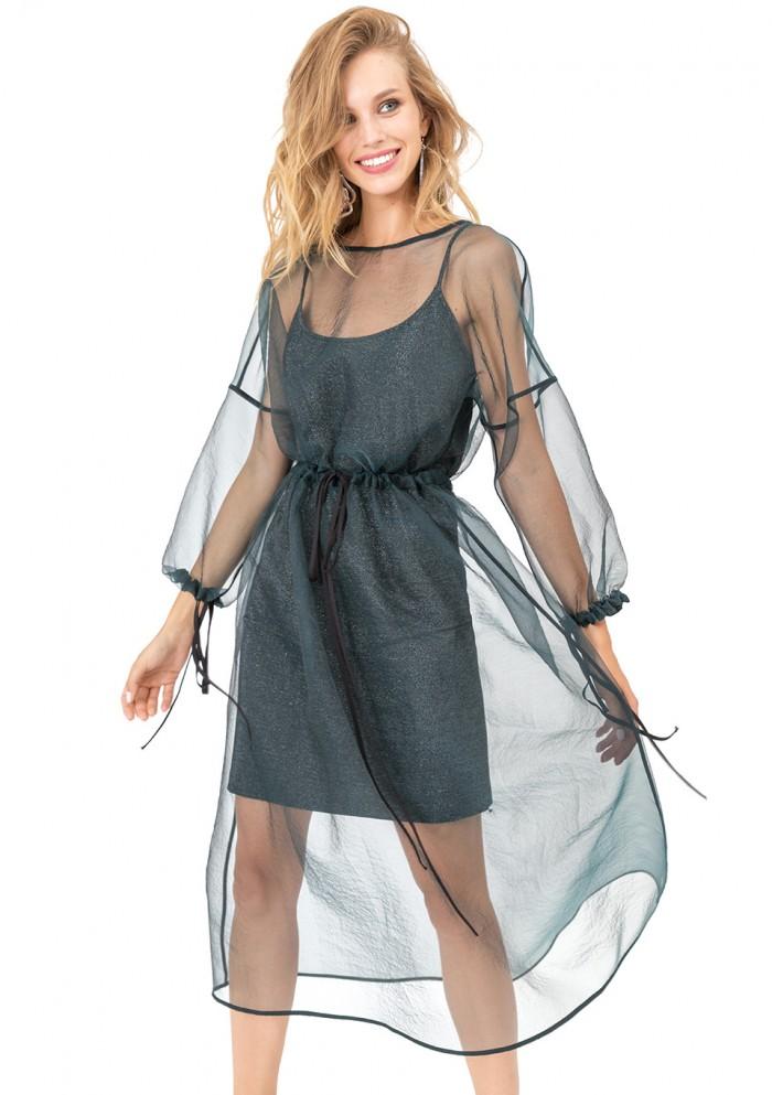 Платье женское трикотажное с блеском М 7688