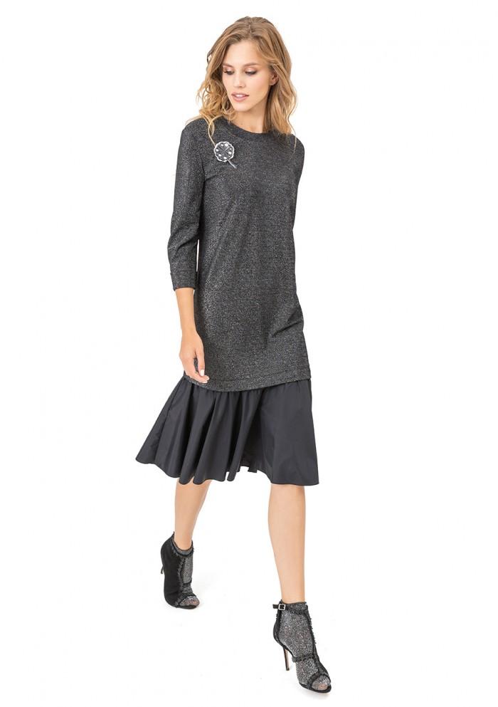 Платье женское с блеском М 7716