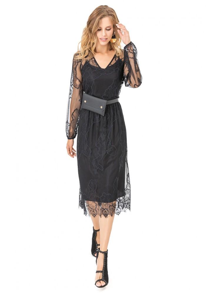 Платье женское вечернее кружевное М 7724