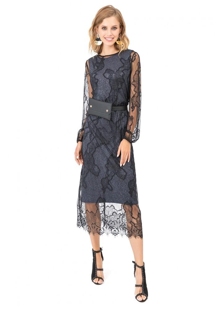 Платье женское кружевное М 7743
