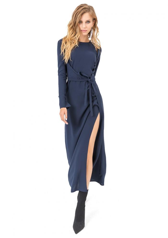 Платье женское с запахом и завязкой М 7720