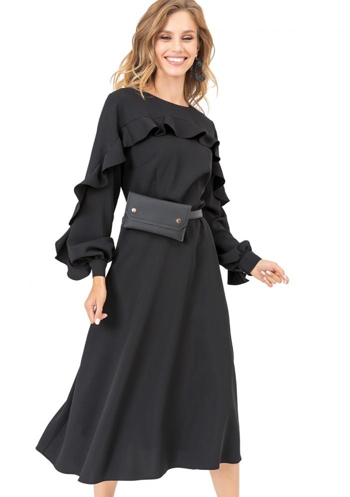 Платье женское с рюшами М 7678