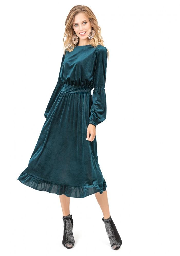 Платье женское велюровое М 7711