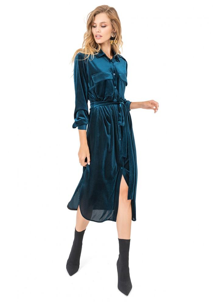 Платье женское велюровое М 7696-3